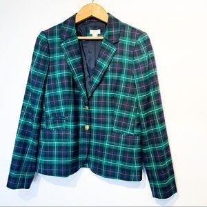 J CREW Wool Blend Plaid Blazer Jacket